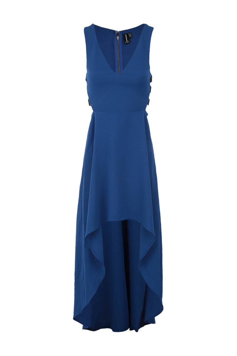 Dipped Hem Maxi Dress - Izabel London