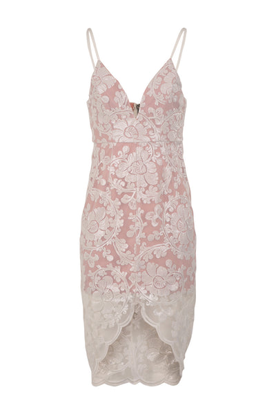 Lace Print Slip  Dress - Izabel London