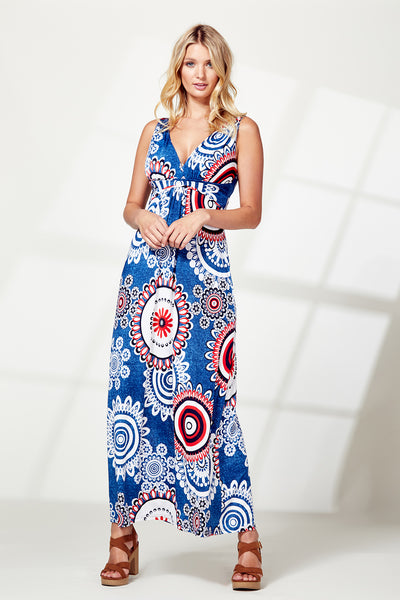 Eastern Print Maxi Dress - Izabel London