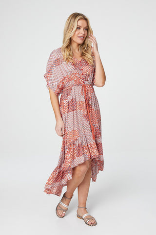 Patchwork Midi Dress