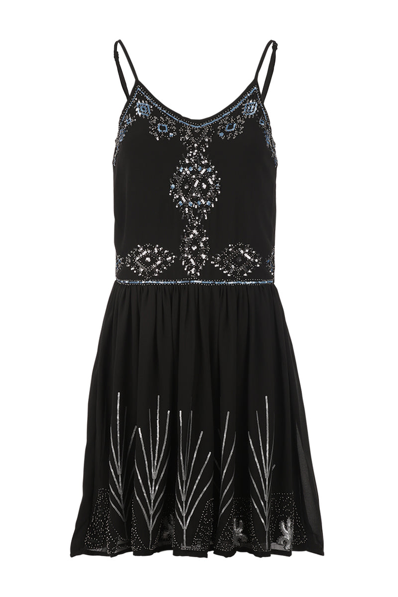 Sequin Embellished Dress - Izabel London