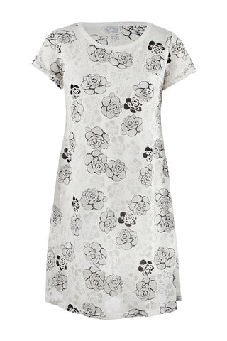 Keyhole Neck Floral Dress