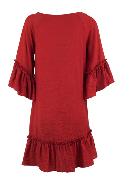 Peplum Hem Shift Dress - Izabel London