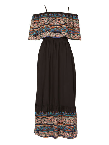 Tribal Tie Sleeve Maxi Dress