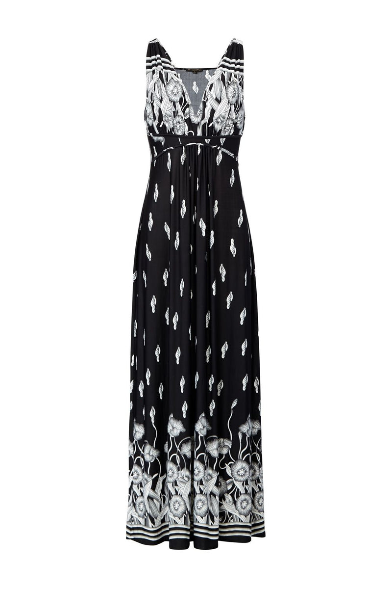 Tribal Print Maxi Dress - Izabel London