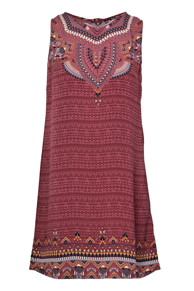 Red | Tribal & Aztec Shift Dress