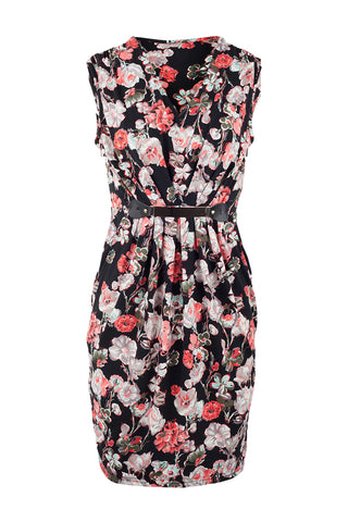 Floral Belted Tea Dress
