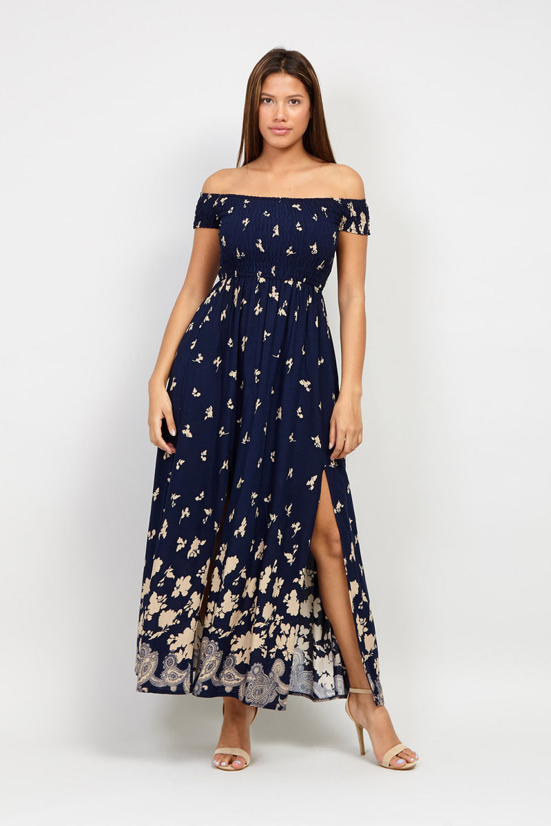 Navy | Bardot Maxi Dress