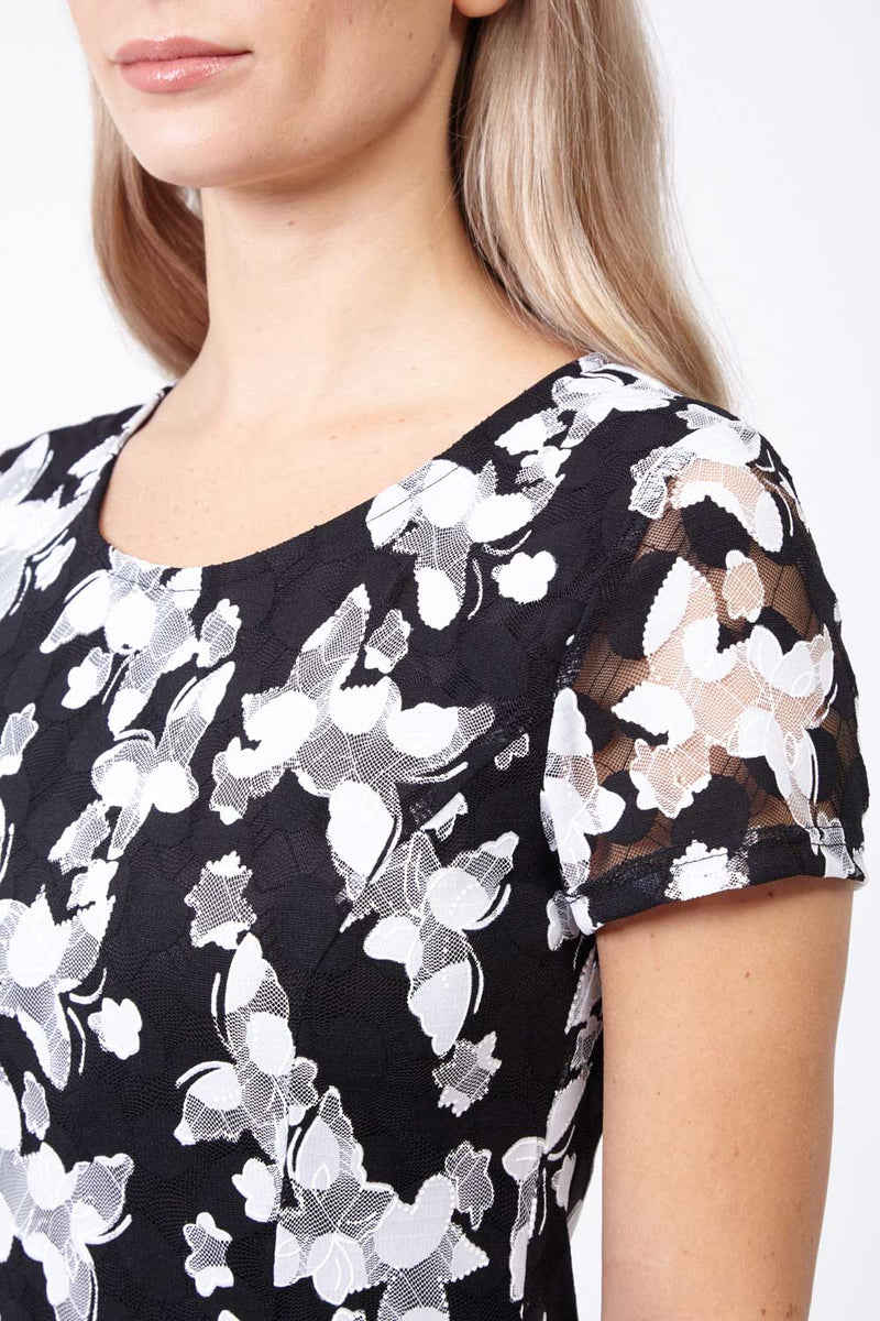 Floral Fit & Flare Dress - Izabel London
