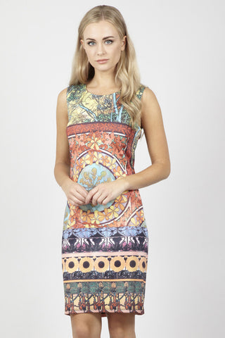 Tropical Floral Shift Dress