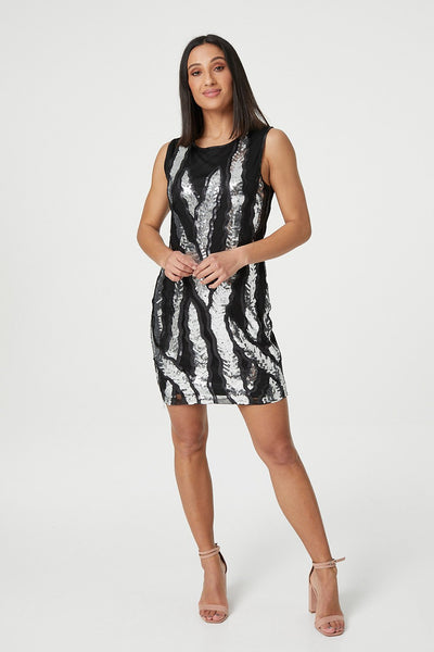 Sequin Shift Dress - Izabel London