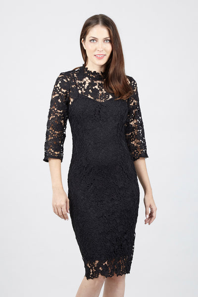 Lace Shift Dress - Izabel London