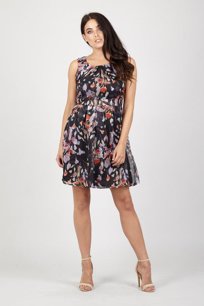 Sheer Floral Dress - Izabel London