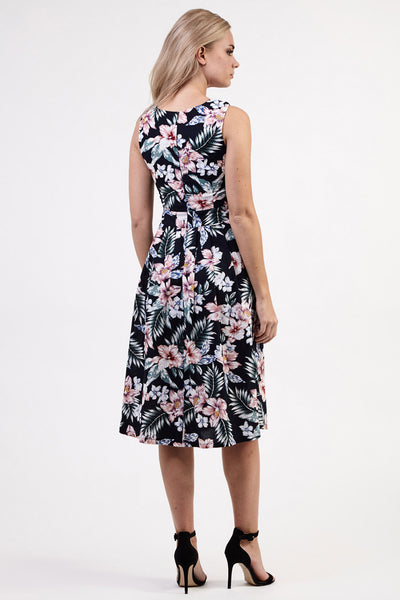 Floral Sweetheart Midi Dress - Izabel London