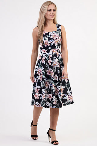 Curve Floral Bardot Dress