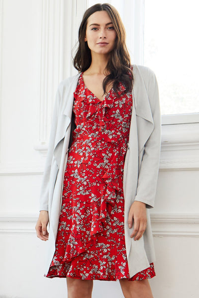 Ditsy Floral Wrap Dress - Izabel London