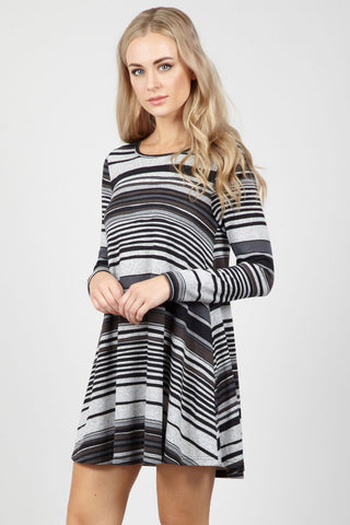 Diamond Check Shift Dress