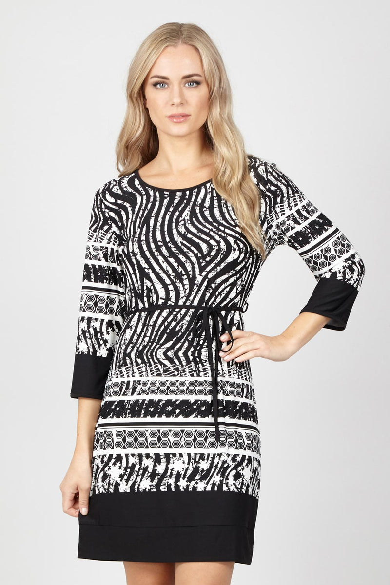 7b26244f25b Zebra Print Shift Dress - Izabel London