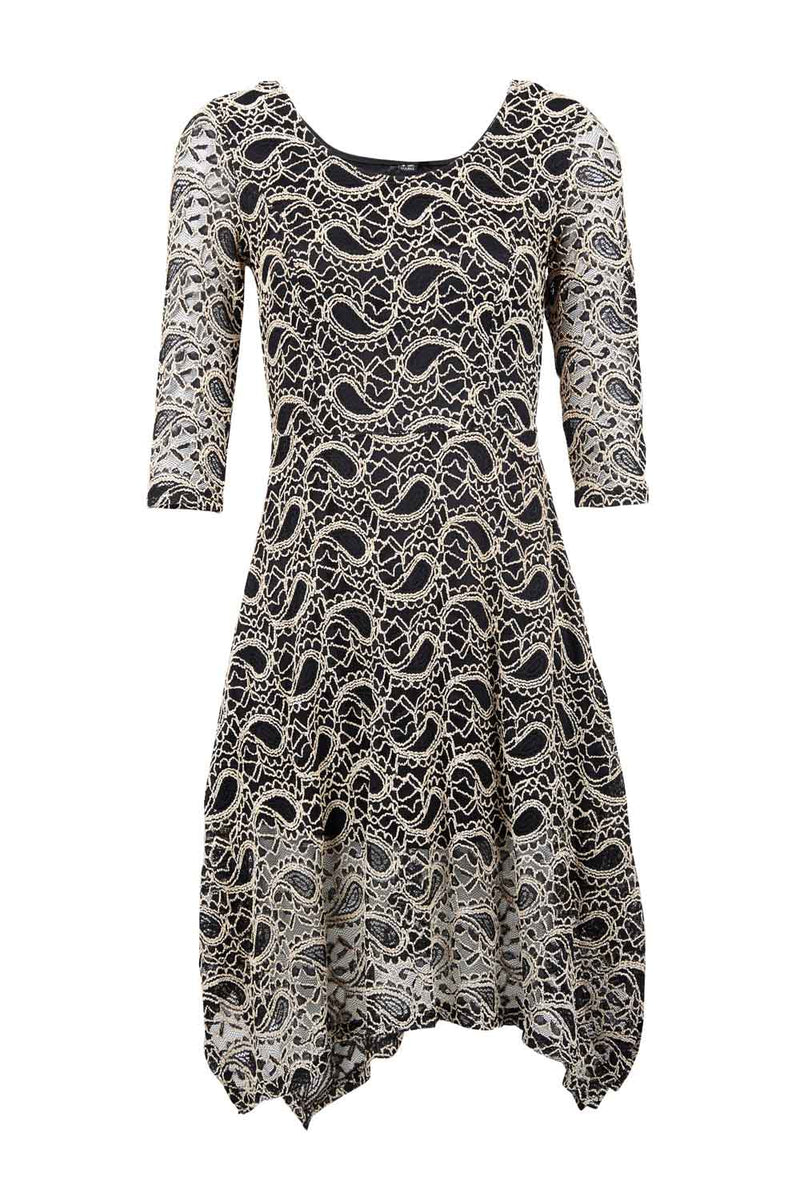 Beige | Paisley Lace Dress