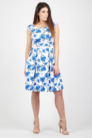 Solid Floral Bloom Shift Dress
