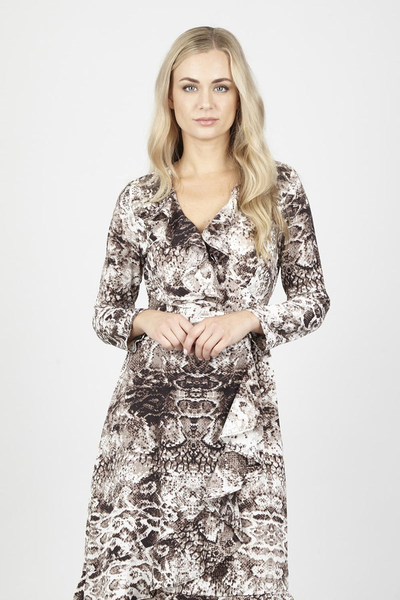 Snake Wrap Dress - Izabel London