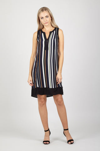 Striped T-Shirt Shift Dress