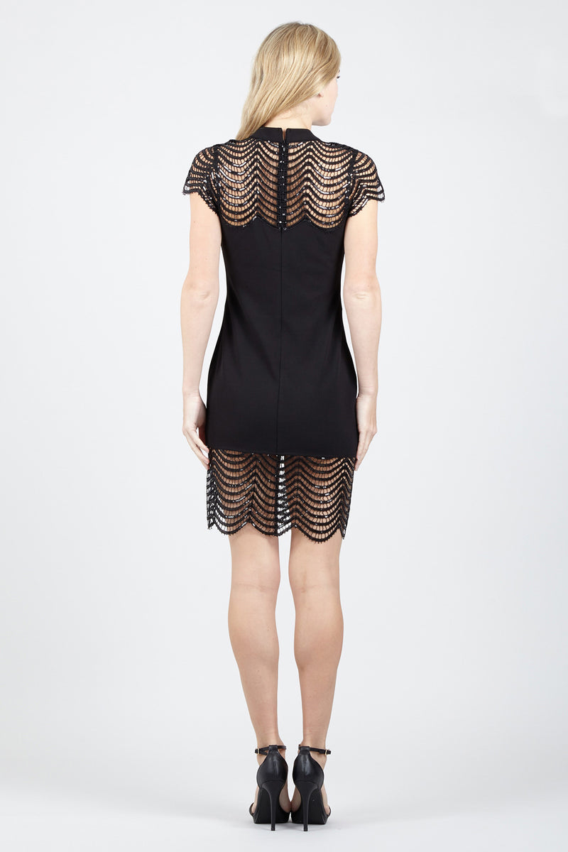 Cut Out Lace Bodycon Dress - Izabel London