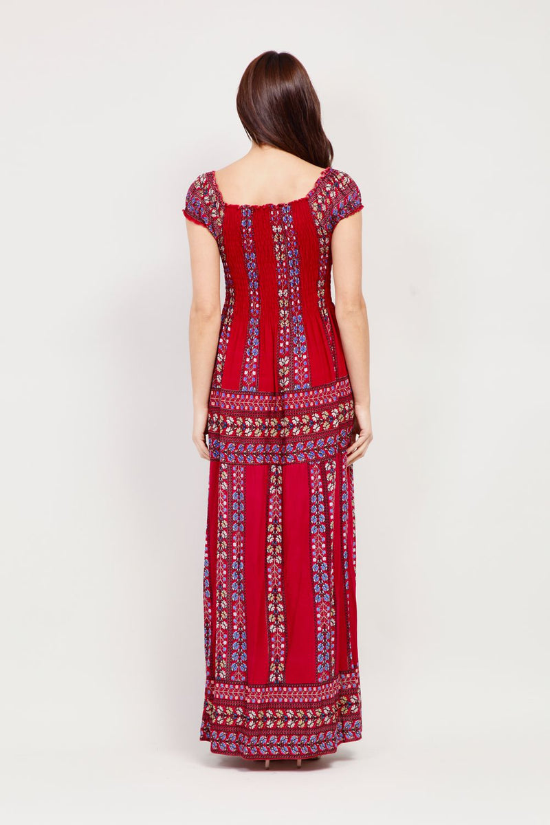 Boho Summer Maxi Dress - Izabel London