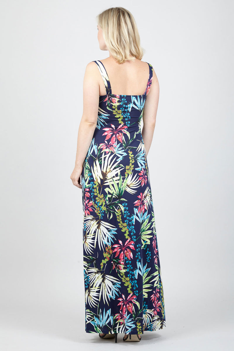 Floral Plunge Maxi Dress - Izabel London