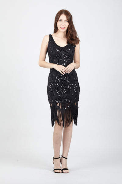 Black | Tassel Fringe Dress