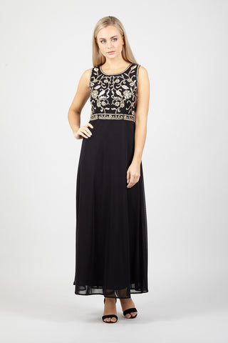 Lace Embellished Maxi Dress