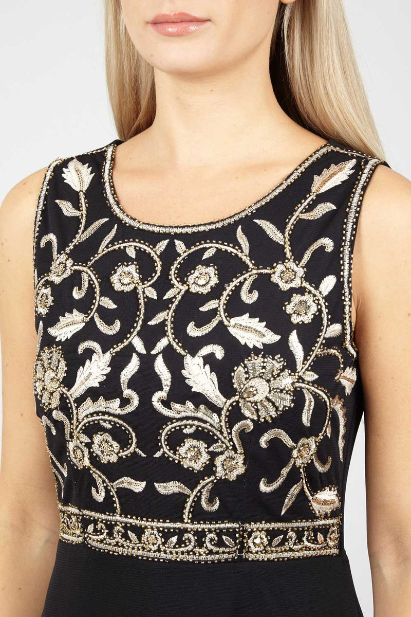 Embellished Maxi Dress - Izabel London