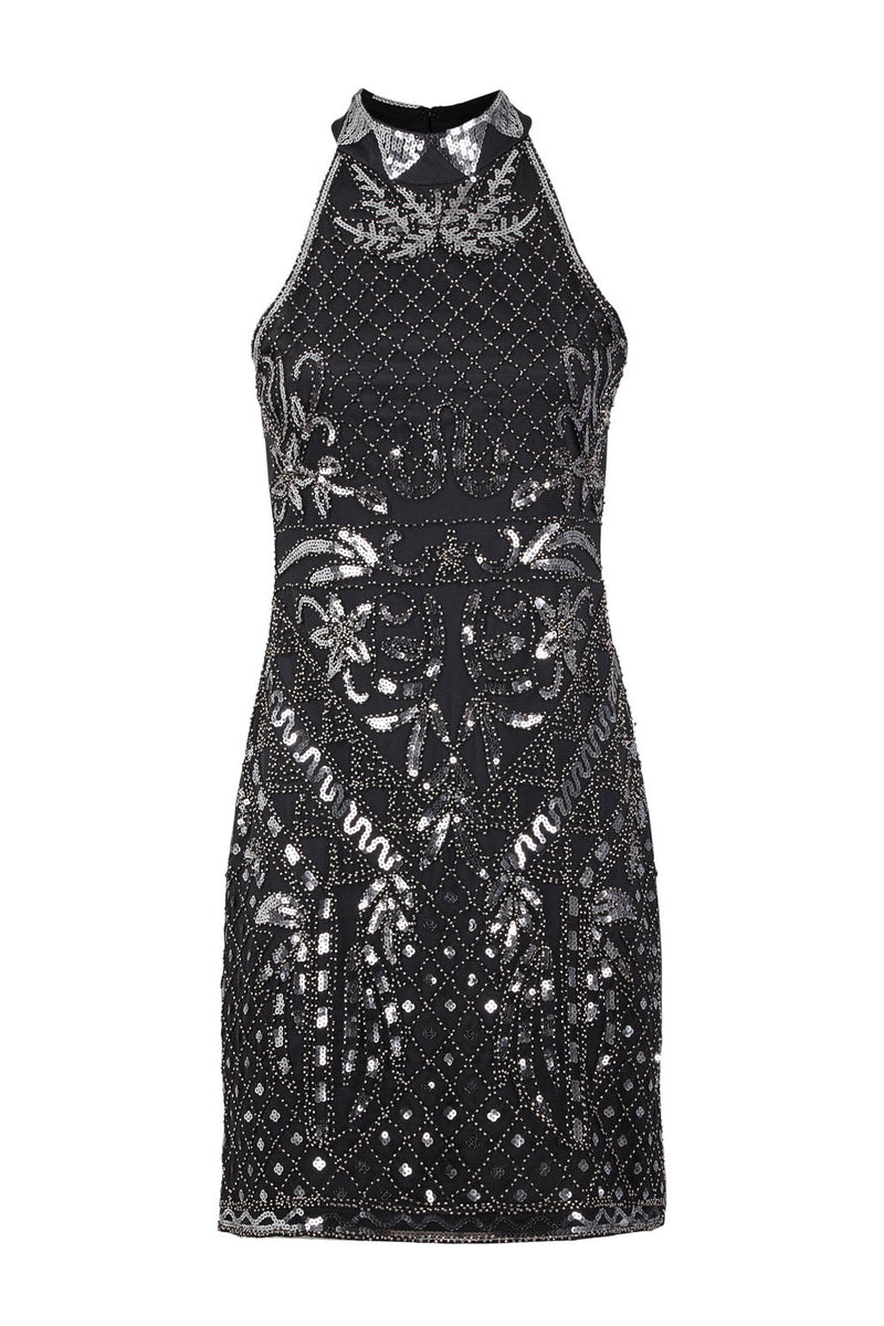 Sequin Halterneck Dress - Izabel London