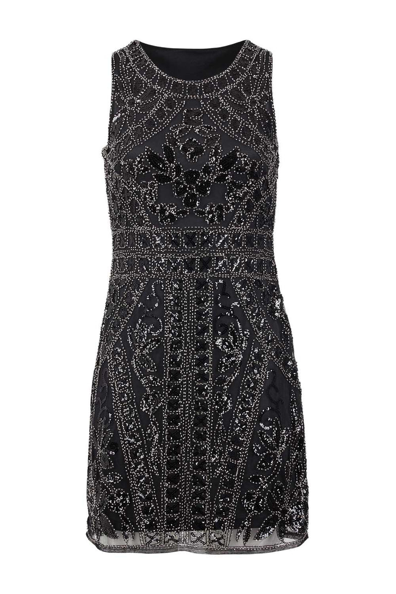 Sequin Overlay Bodycon Dress - Izabel London
