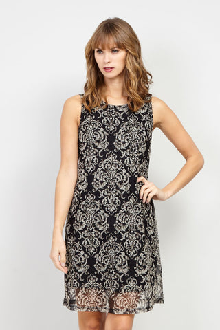 Aztec Print Shift Dress