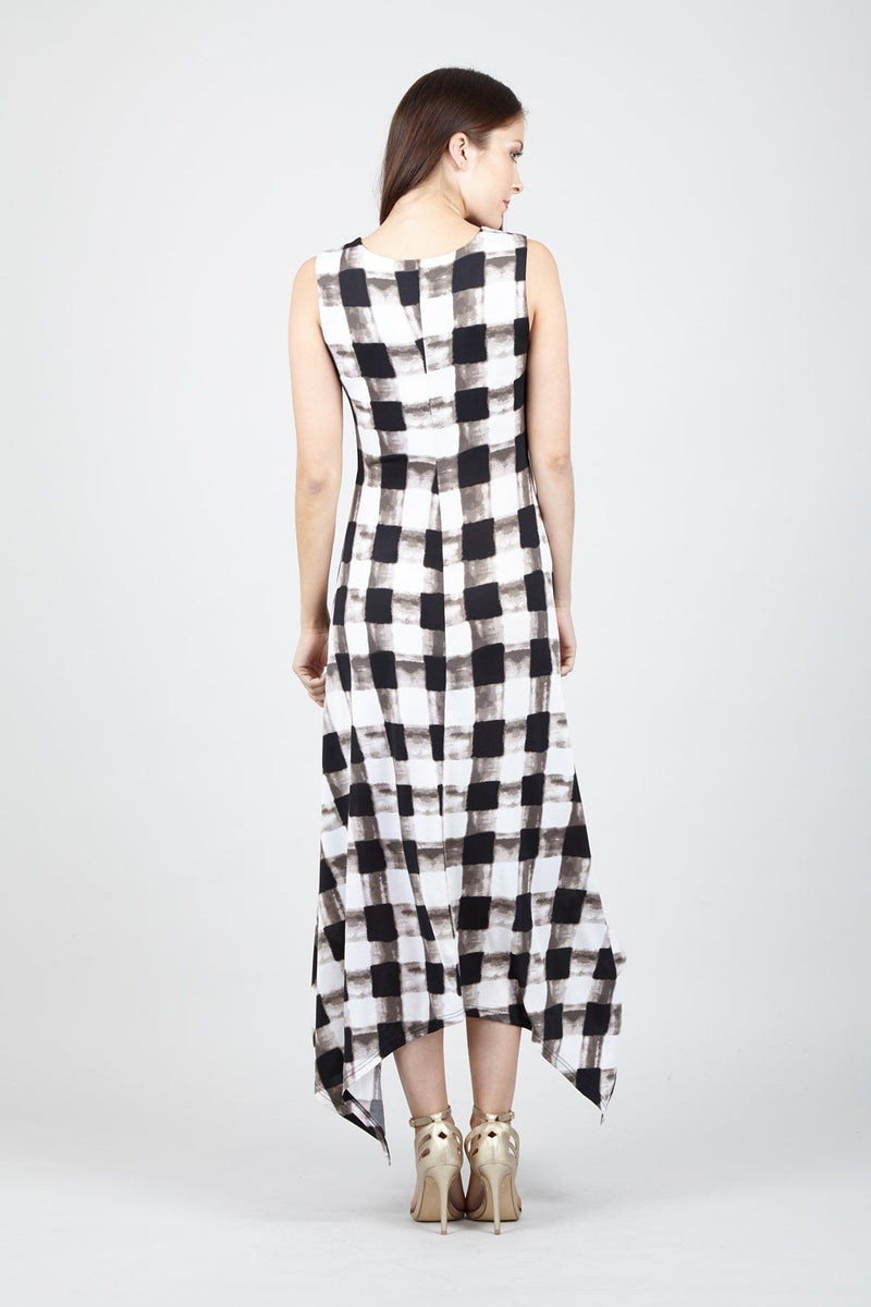 Checked Hanky Hem Maxi - Izabel London