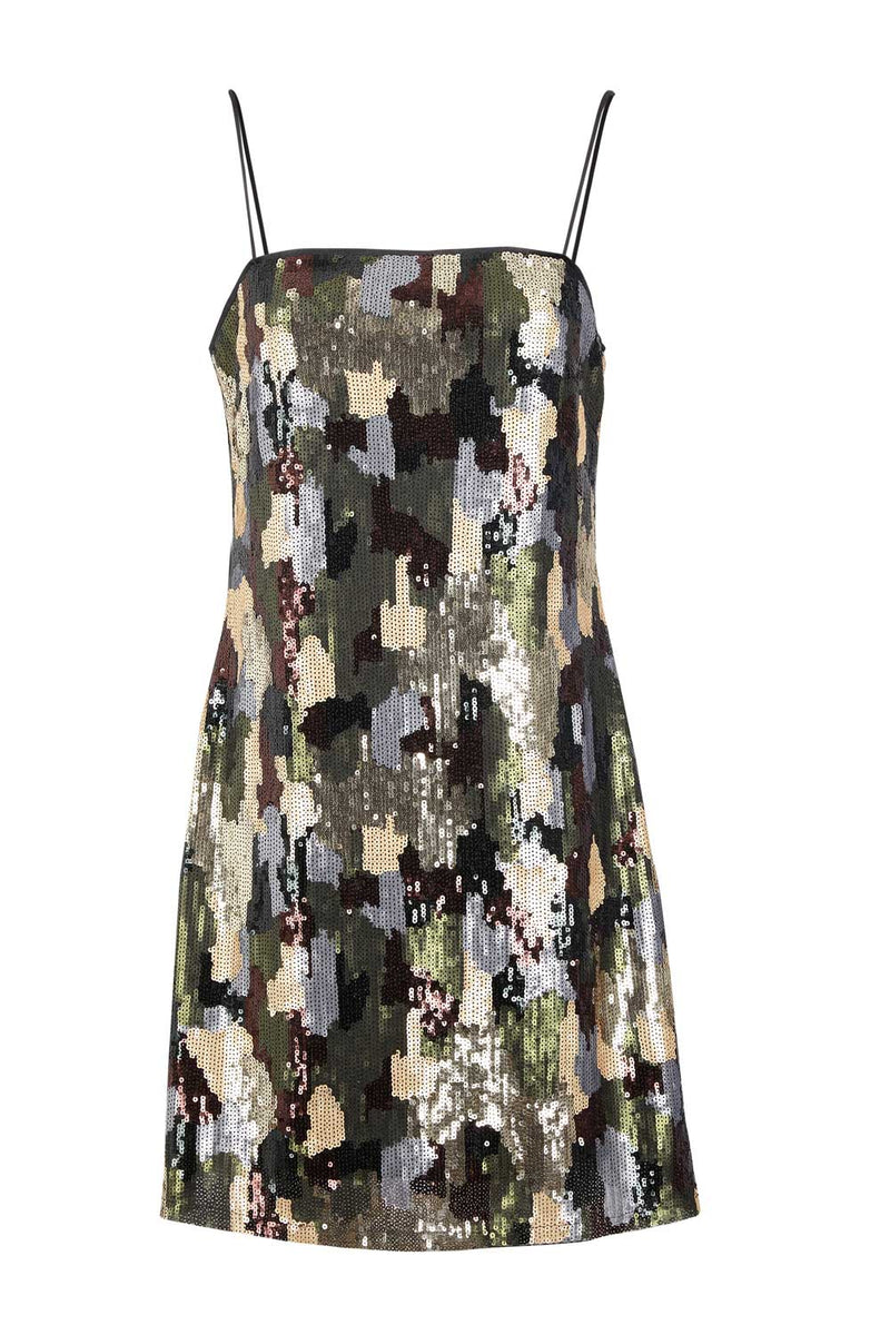 Black | Camo Sequin Mini Dress