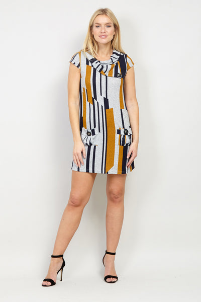 Roll Neck Tunic Dress - Izabel London