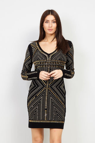 Sequin Halterneck Dress