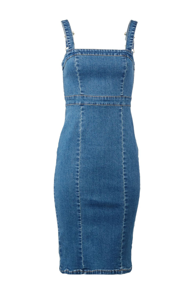 Blue | Denim Pinafore Dress
