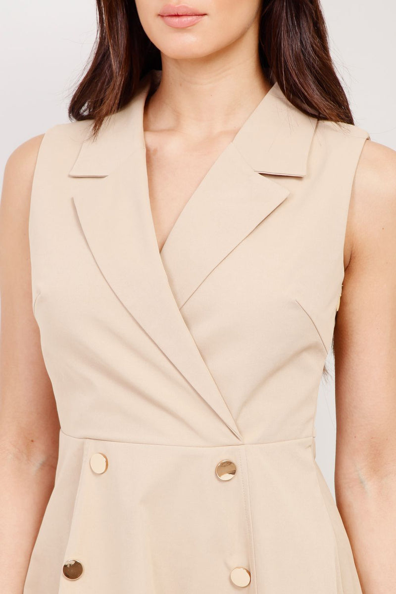 Beige | Blazer Skater Dress