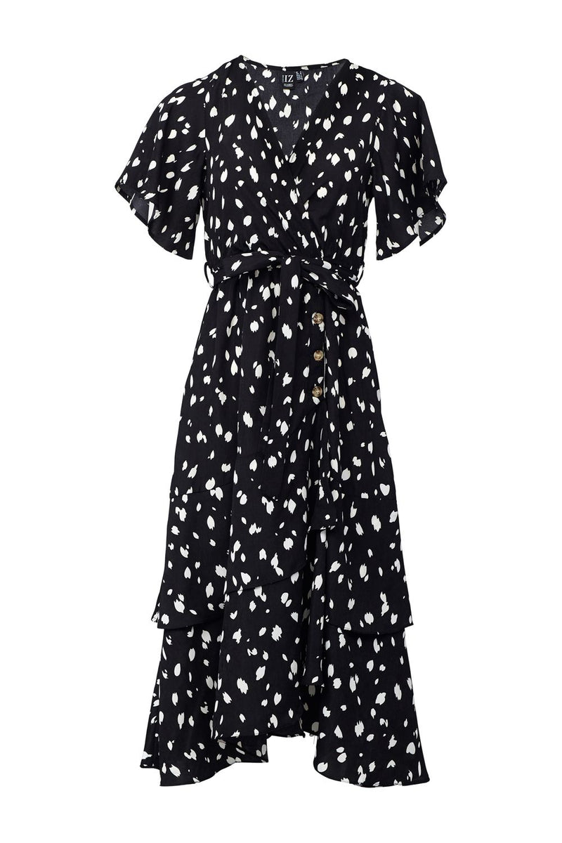 Black | Polka Dot Midi Tea Dress