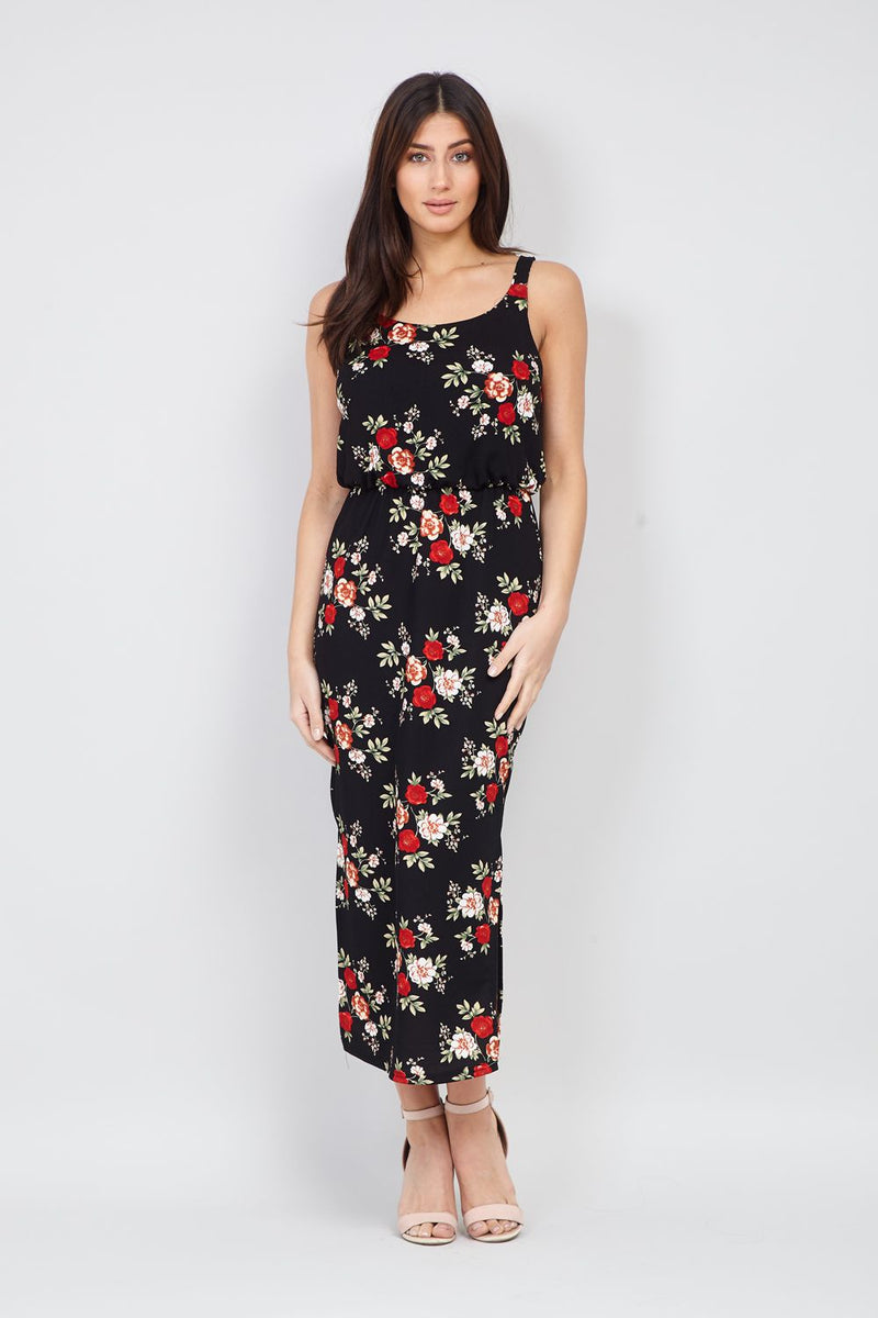 Floral Print Midi Dress - Izabel London
