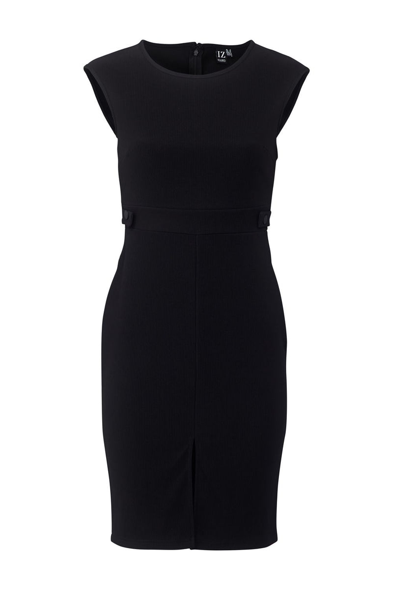 Black | Split Front Tailored Dress