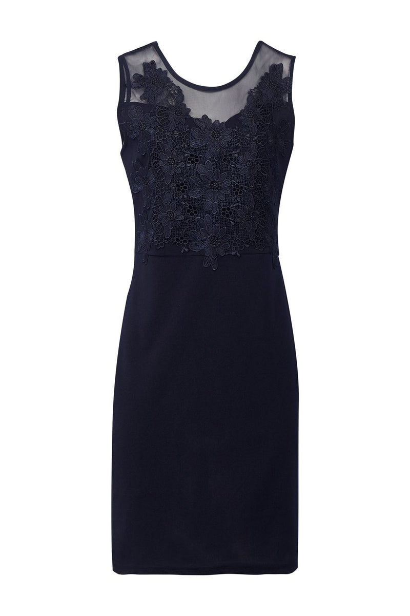 Navy | Lace Top Bodycon Dress