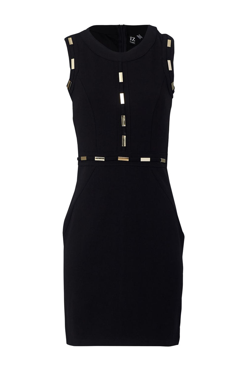 Black | Metal Trim Shift Dress