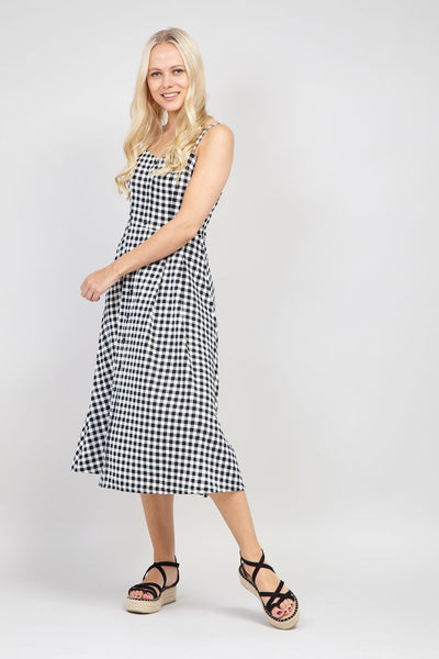 Black | Gingham Print Cami Dress