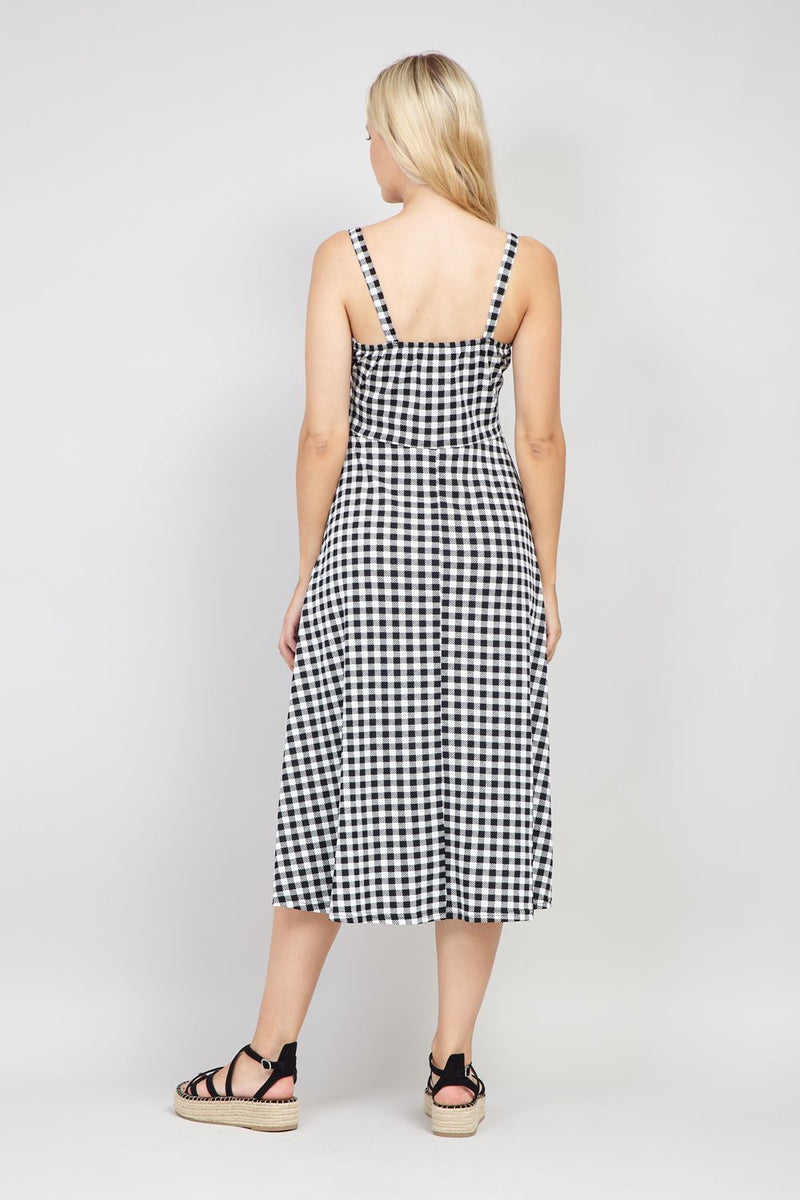 Black And White | Gingham Print Cami Dress