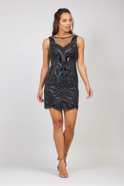 Black | Sequinned Bodycon Dress