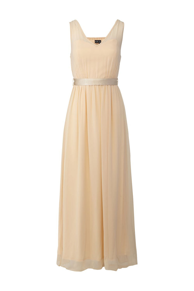 Beige | A-Line Sweetheart Maxi Dress